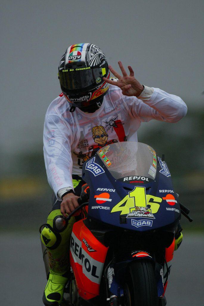 Rossi campeon de motogp brasil 2002 rio honda motogp gp