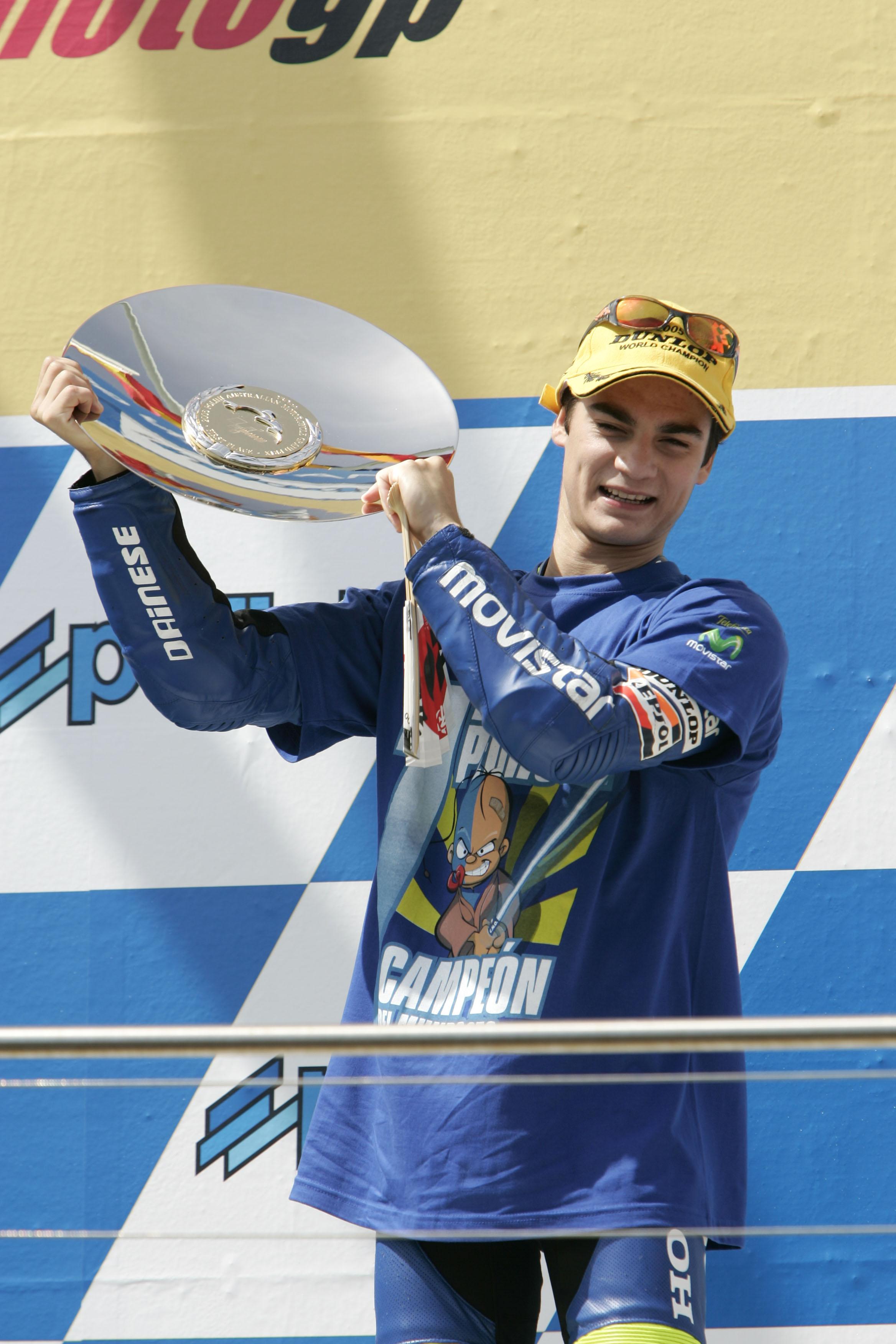 Dani Pedrosa campeón del mundo de 250cc motogp gp año 2005