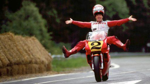 Mamola Spa 1988 podio con cagiva