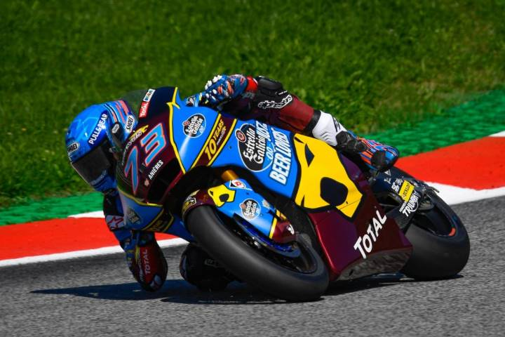Álex Márquez durante el pasado Gran Premio de Austria