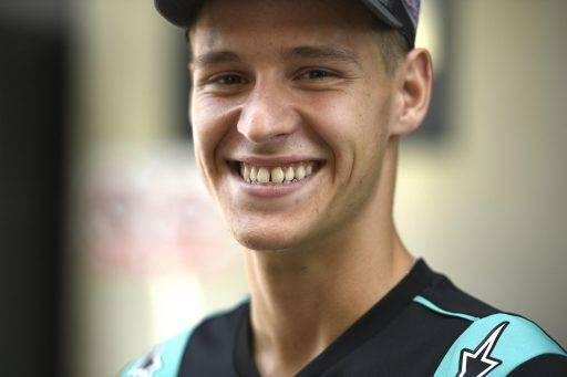Fabio Quartararo sonriente tras los primeros entrenamientos libres del Gran Premio de Aragón de MotoGP