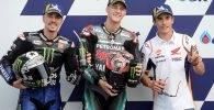 Maverick Vinales (SPA) Fabio Quartararo (FRA) Marc Marquez (SPA) MotoGP