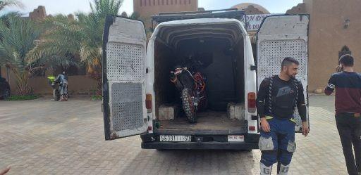 La grúa a Melilla