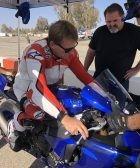 Wayne Rainey con una Yamaha R1
