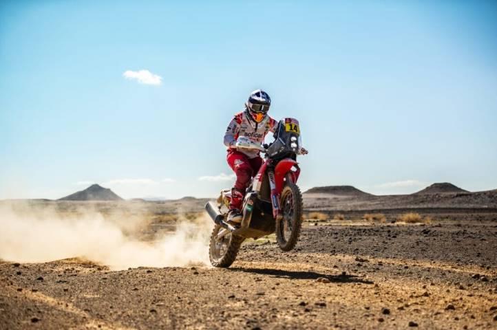 Laia Sanz durante el Dakar en Arabia Saudi