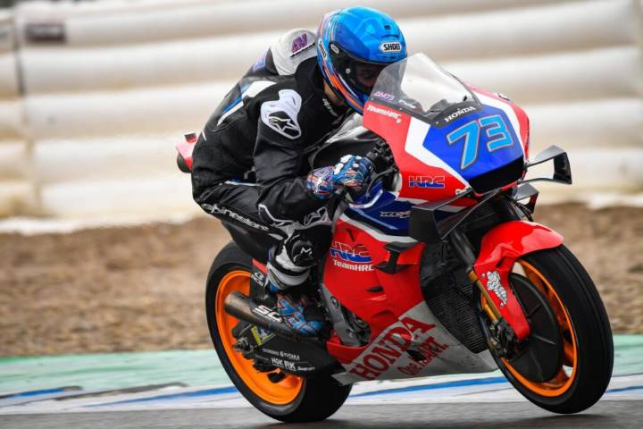 Álex Márquez durante el último test de Jerez de MotoGP