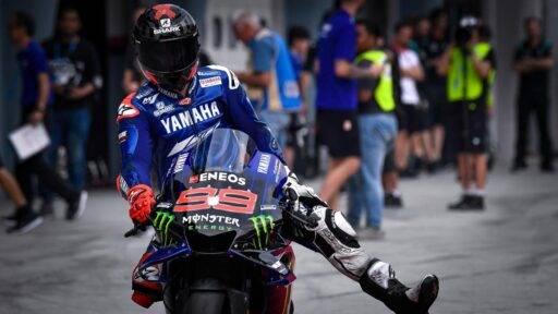 Jorge Lorenzo pilotando la Yamaha durante los últimos test de MotoGP