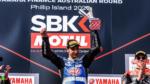 Toprak Razgatlioglu en el podio del round de Australia de WorldSBK