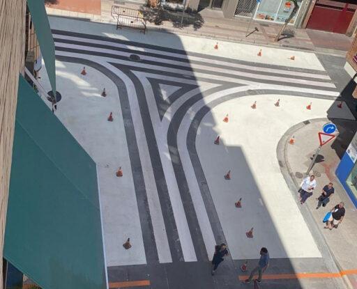 Un paso de peatones antirreglamentario