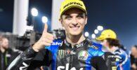 Luca Marini durante la carrera de Qatar