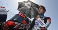 Albert Arenas en la parrilla de salida previa a la carrera de Moto3 del Gran Premio de Andalucía