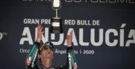 Fabio Quartararo en el podio de Jerez tras ganar en el Gran Premio de Andalucía de MotoGP
