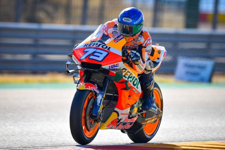 Álex Márquez durante la carrera de MotoGP del Gran Premio de Aragón