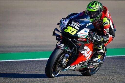 Cal Crutchlow durante los entrenamientos del Gran Premio de Aragón de MotoGP